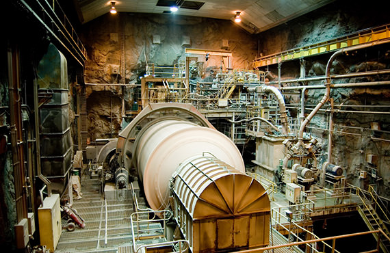 The SAG mill's motor – a critical piece of equipment – must be monitored for temperature.