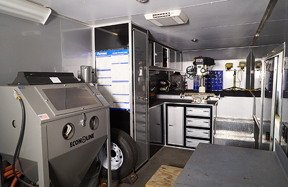 We have a full fleet of mobile service trailers to provide maintenance at your site.